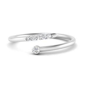 Spiral Stacking Diamond Ring