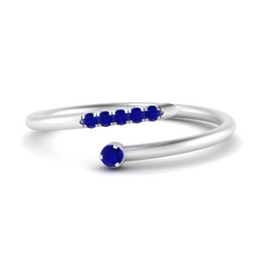 Spiral Stacking Sapphire Ring