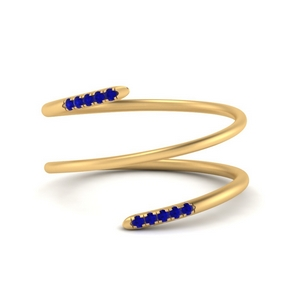 Spiral Gold And Sapphire Ring