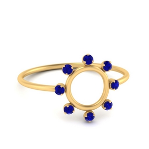 Sapphire Open Circle Stackable Ring