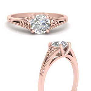 Hot Selling Round Solitaire Ring Rings
