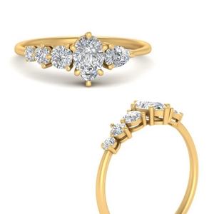 Offbeat Pear Diamond Ring
