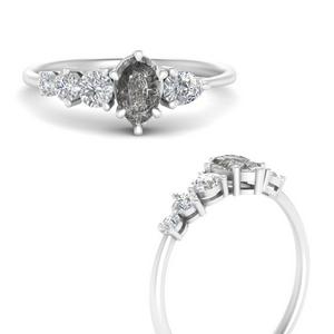 Offbeat Salt N Pepper Diamond Ring