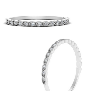 Thin Braided Stacking Ring