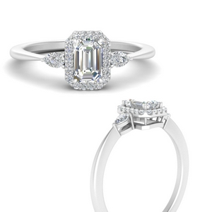 Emerald Cut Vintage Moissanite Rings