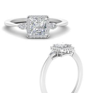 Princess Cut Vintage Engagement Ring