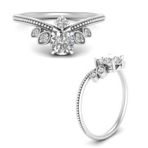 Art Deco Milgrain Diamond Ring