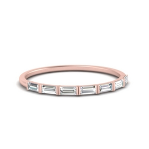 Bar Thin Baguette Wedding Band