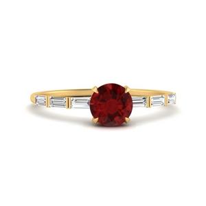 Thin Ruby Stone Ring