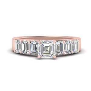Asscher Big Lab Grown Diamond Ring