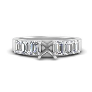 Semi Mount Luxury Diamond Ring
