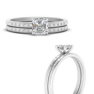 scattered-bezel-asscher-cut-wedding-ring-sets-in-FD9593ASANGLE3-NL-WG