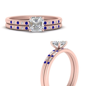 scattered-bezel-asscher-cut-wedding-ring-sets-with-sapphire-in-FD9593ASGSABLANGLE3-NL-RG