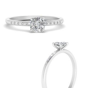 3/4 Carat Cushion Cut Diamond Ring