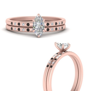 scattered-bezel-marquise-cut-wedding-ring-sets-with-black-diamond-in-FD9593MQGBLACKANGLE3-NL-RG