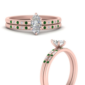 scattered-bezel-marquise-cut-wedding-ring-sets-with-emerald-in-FD9593MQGEMGRANGLE3-NL-RG