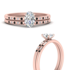 scattered-bezel-oval-shaped-wedding-ring-sets-with-black-diamond-in-FD9593OVGBLACKANGLE3-NL-RG