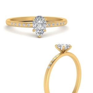 Delicate Pear Lab Diamond Ring