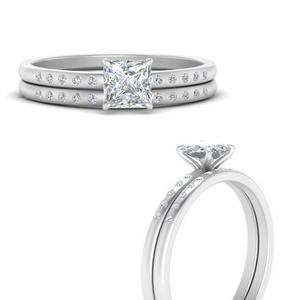 scattered-bezel-princess-cut-wedding-ring-sets-in-FD9593PRANGLE3-NL-WG