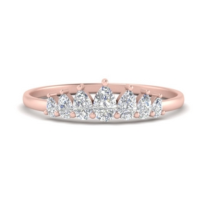Crown Pear Diamond Band