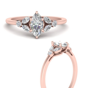 Marquise Shaped Petite Rings