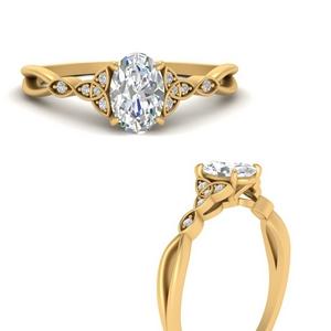 Celtic Knot Split Diamond Ring