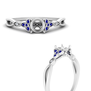 celtic-knot-split-semi-mount-diamond-engagement-ring-with-sapphire-in-FD124181SMRGSABLANGLE3-NL-WG