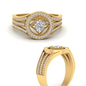 Round Halo Vintage Ring