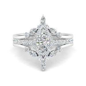 Oval Halo Antique Diamond Ring