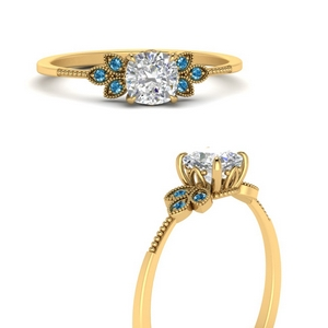 leaf-diamond-cushion-engagement-ring-with-blue-topaz-in-FD9615CURGICBLTOANGLE3-NL-YG