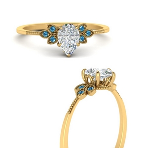leaf-diamond-pear-engagement-ring-with-blue-topaz-in-FD9615PERGICBLTOANGLE3-NL-YG