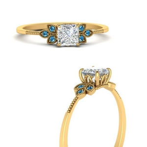 leaf-diamond-princess-cut-engagement-ring-with-blue-topaz-in-FD9615PRRGICBLTOANGLE3-NL-YG