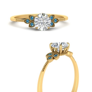leaf-diamond-round-engagement-ring-with-blue-topaz-in-FD9615RORGICBLTOANGLE3-NL-YG