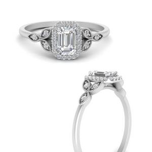 Halo Petal Moissanite Ring