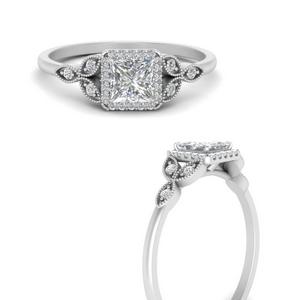 Princess Cut Diamond Side Stone Rings