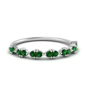 Emerald Antique Delicate Band