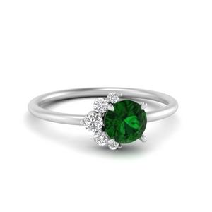 Asymmetrical Emerald Ring