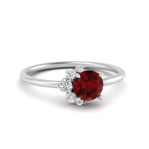 Asymmetrical Ruby Ring
