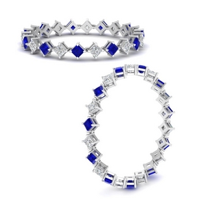 Compass Point Sapphire Eternity Band