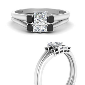 princess-cut-3-stone-wedding-ring-set-with-black-diamond-in-FD9634PRGBLACKANGLE3-NL-WG
