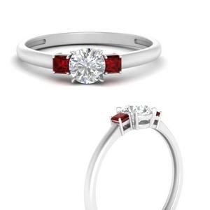 Moissanite Past Present Future Ring