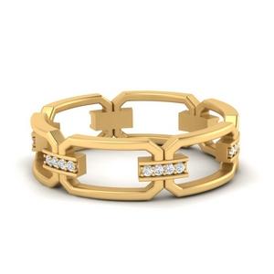Link Diamond Ring