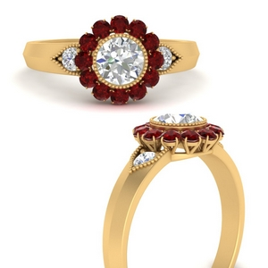 victorian-round-diamond-antique-engagement-ring-with-ruby-in-FD9645RORGRUDRANGLE3-NL-YG