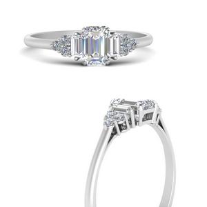 Baguette Cluster Engagement Ring