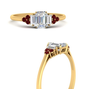 Baguette Cluster Ruby Ring