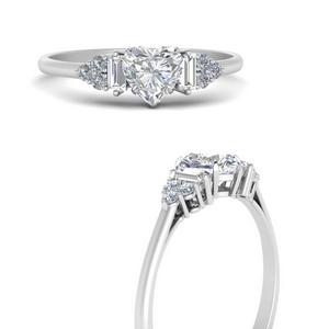 Lab Diamond Baguette Cluster Ring