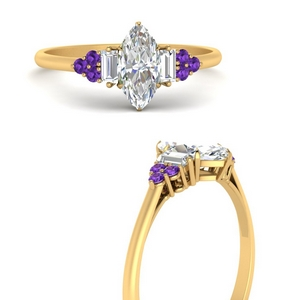 baguette-cluster-marquise-diamond-engagement-ring-with-purple-topaz-in-FD9651MQRGVITOANGLE3-NL-YG