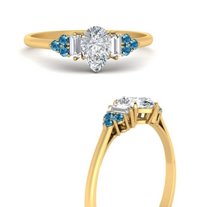 baguette-cluster-pear-shaped-diamond-engagement-ring-with-blue-topaz-in-FD9651PERGICBLTOANGLE3-NL-YG