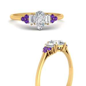 baguette-cluster-pear-shaped-diamond-engagement-ring-with-purple-topaz-in-FD9651PERGVITOANGLE3-NL-YG