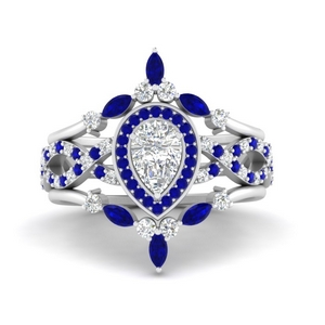 pear-halo-diamond-bridal-ring-set-with-sapphire-in-FD9653PEGSABL-NL-WG